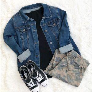 Jackets & Blazers - Jeans jacket botton Down denim long sleeve shirt